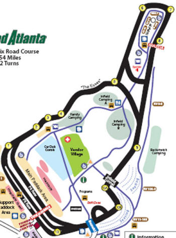 Road Atlanta Turn 12 2.54-mile 12 Turn Road